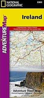 Ireland Adventure Road and Tourist Map.