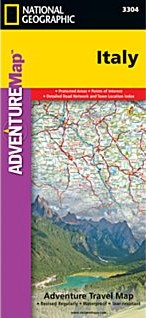 Italy Adventure Road and Tourist Map.