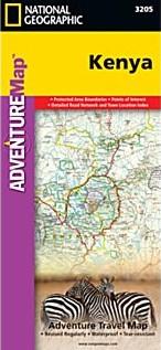 Kenya Adventure Road and Tourist Map.