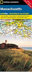 Massachusetts Road and Physical Tourist Guide map.