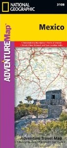 Mexico Adventure Road and Tourist Map.