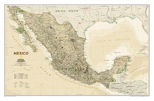 """Mexico """"Executive"""" WALL Map."""