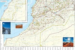 Morocco Adventure Road and Tourist Map.