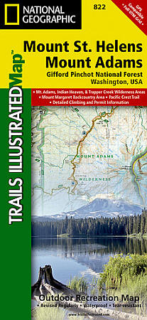 Mount St. Helens & Mount Adams, Gifford-Pinchot National Forest, Road and Recreation Map.