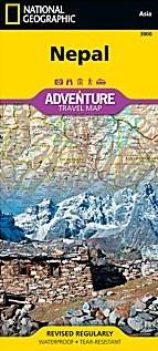 Nepal Adventure Road Map.