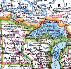 North America Political WALL Map.