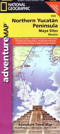 Northern Yucatan, Peninsula Adventure Map.