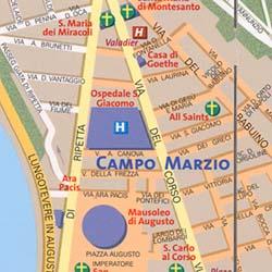 """ROME """"Destination"""" map Lazio, Italy."""