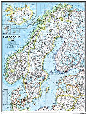 Scandinavia Political WALL Map.