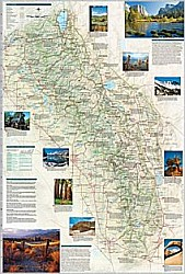 Sierra Nevada Destination Map, America.