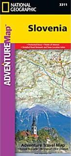 Slovenia Adventure Road and Tourist Map.