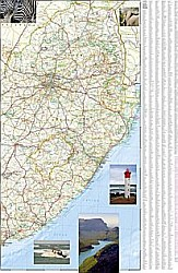 South Africa Adventure Road and Tourist Map.