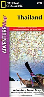 Thailand Adventure Road and Tourist Map.