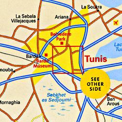 "TUNIS ""Destination"" map."