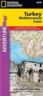 Turkey, Mediterranean Coast Adventure Road Map.