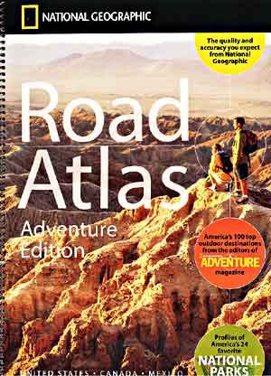 America, Canada and Mexico Tourist Road ATLAS.