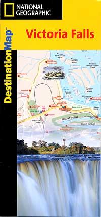 """Victoria Falls """"Destination"""" map Zambia."""