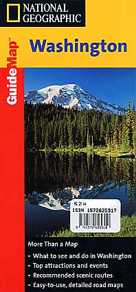 Washington Road and Physical Tourist Guide map.