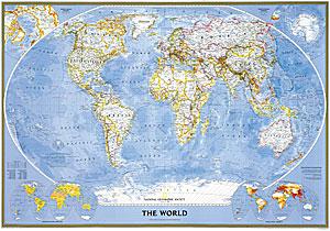 World Classic Sheet WALL Map.