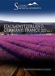 France, Italy, Switzerland, Germany Night Music Vol. 1 - Travel Video.