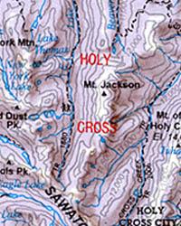 Aspen, Mining Towns and Central Colorado, Recreation Map, Colorado, America.