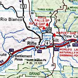 Colorado Road and Tourist Map, America.