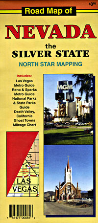 Nevada Road and Tourist Map, America.