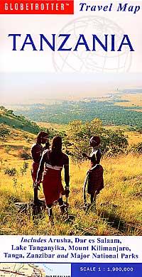 Tanzania Road and Tourist Map.