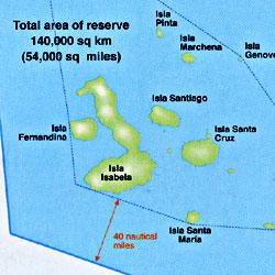 "Galapagos Islands ""Explorer"" Map, Ecuador."
