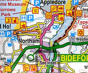 Devon and Somerset West Touring Maps.