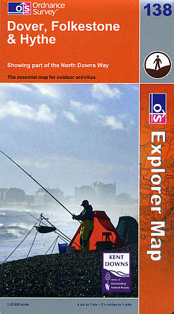 Dover, Folkestone and Hythe Road and Topographic Maps.