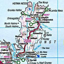 Northern Scotland, Orkney & Shetland #1 Regional Road Map.