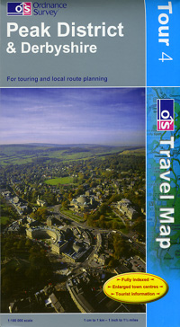 Peak District and Derbyshire Touring Maps.