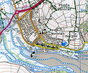 Redruth and St Agnes Road and Topographic Maps.