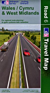 Wales/Cymru & West Midlands #6 Regional Road Map.