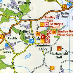 Yorkshire Dales and part of North Yorkshire Touring Maps.