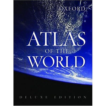"""Oxford """"Atlas of the World"""" Deluxe Edition."""