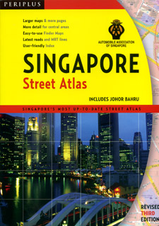 Singapore City and Island, Street ATLAS.