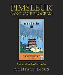 Pimsleur Mandarin Chinese Comprehensive Audio CD Language Course, Level 3.