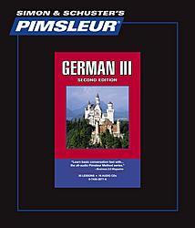 Pimsleur German Comprehensive Audio CD Language Course, Level 3.