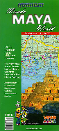 The Mayan World Road and Reference Map.