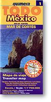 Western Mexico and the Sea of Cortez, Regional Road and Tourist Map, Mexico.