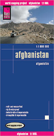 Afghanistan Road and Topographic Tourist Map.