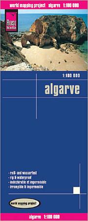 Algarve Road and Topographic Tourist Map.