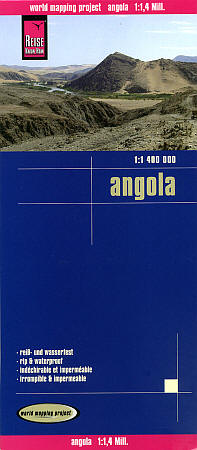 Angola Road and Topographic Tourist Map.