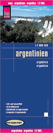 Argentina Road and Topographic Tourist Map.