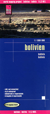 Bolivia, Road and Topographic Tourist Map.