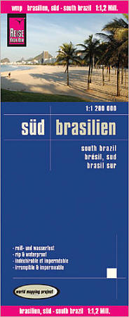 Brazil South Road and Topographic Tourist Map.