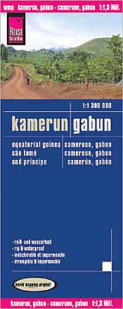 Cameroon and Gabon Road and Topographic Tourist Map.
