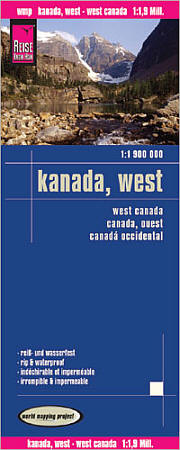 Canada, Western, Road and Topographic Tourist Map.